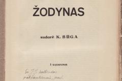 K. Būgos lietuvių kalbos žodynas